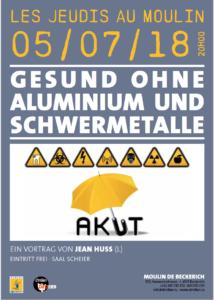 Gesund ohne Aluminium und Schwermetalle @ MOULIN DE BECKERICH